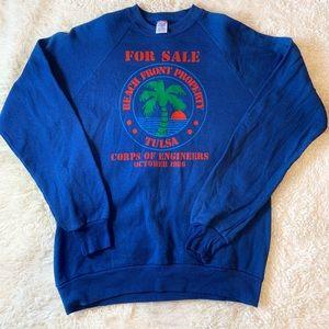 Vintage 1986 sweatshirt Corps of engineers Tulsa L